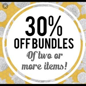 Bundle two or more items and get 30% off